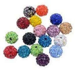 85.100 - Shambala Χάνδρα Με Κρύσταλλα 10mm