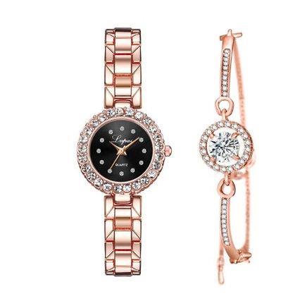 WWBR.205 - Γυναικείο Ρολόι Με Βραχιόλι Κρύσταλλα.
