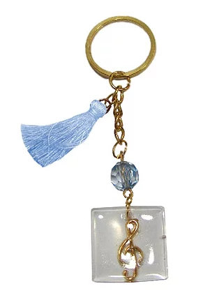 Γούρι Μπρελόκ 10cm Με Κλειδί Σόλ Σε Plexiglass - 303.3115