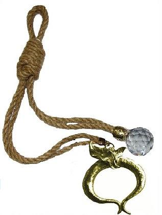 120.2881 - Γούρι 35cm Γιούτα Κορδόνι Με Ρόδι Και Κρύσταλλο.