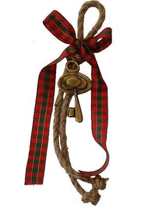 Γούρι 25cm Γιούτα Κορδόνι Με Κλειδί Και Κορδέλα - 010.1835