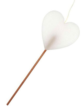 64.100 - Κερί Καρδιά 11cm Σε Ξυλάκι 30cm