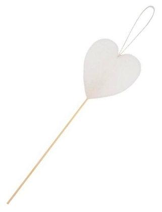 65.102 - Κερί Καρδιά 8cm Σε Ξυλάκι 28cm