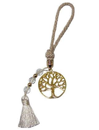 015.2897 - Γούρι Portes Cles 17cm Με Δέντρο Ζωής