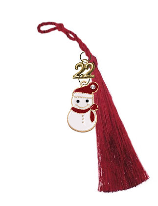 Γούρι 5cm Με Χιονάνθρωπος Σμάλτο Και Φούντα 4cm - 018.0386