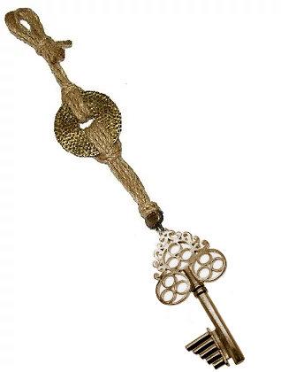 Γούρι 30cm Γιούτα Κορδόνι Με Κλειδί - 121.3047