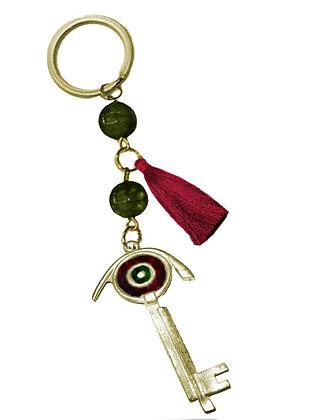 302.3128 - Γούρι Μπρελόκ 10cm Με Κλειδί Σμάλτο