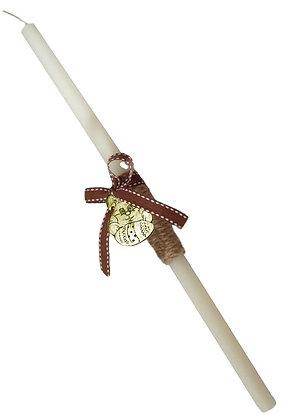 10.2690 - Λαμπαδάκι Στρογγυλό Με Λαγουδάκι 33cm