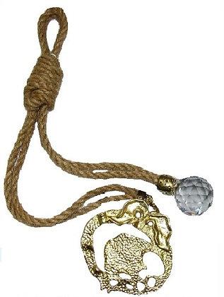 120.2934 - Γούρι 35cm Γιούτα Κορδόνι Με Ρόδι Και Κρύσταλλο.