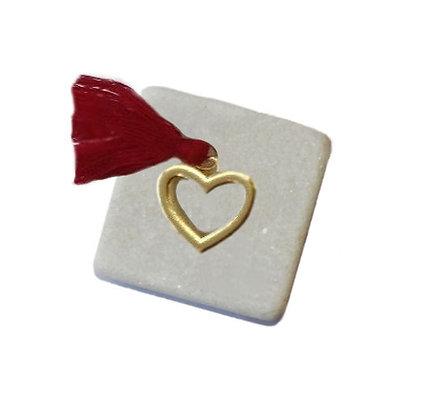 400.0501 - Διακοσμητική Πέτρα Με Καρδιά Και Φούντα