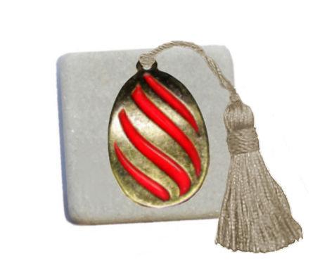 400.3025 - Διακοσμητική Πέτρα 5cm x 5cm, Αυγό Με Φούντα
