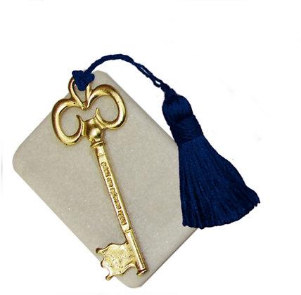 411.2742 - Διακοσμητική Πέτρα 7cm x 5cm, Κλειδί Ευχών Με Φούντα