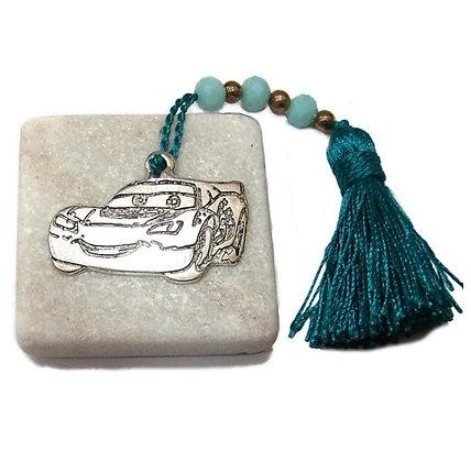 410.2833 - Πέτρα Γούρι 5cm x 5cm, McQueen Και Φούντα Με Χάντρες