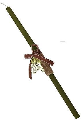 10.3017 - Λαμπαδάκι Στρογγυλό Με Λαγουδάκι 33cm