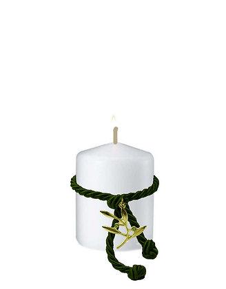 811.2187 - Κερί Κύλινδρος 5cm x 6cm  Κλαδάκι Ελιάς