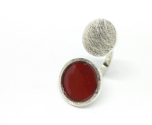Anillo Doble CIRCLE LINE_ROJO