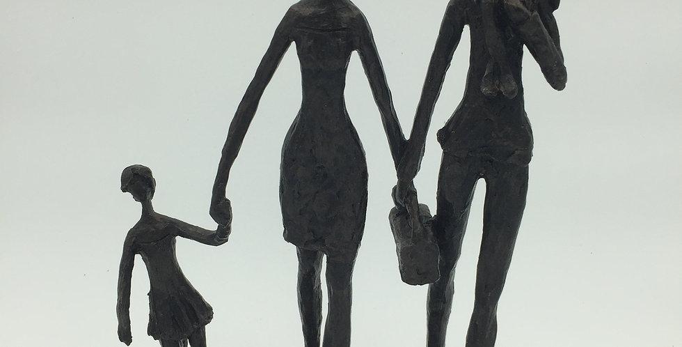 beeld gezin met twee kinderen