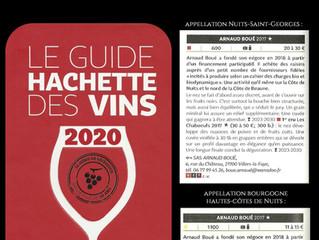 Résultat du Guide Hachette 2020