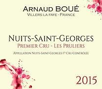 Nuits Saint Georges 1er cru Les Pruliers