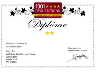 Premières distinctions - 1001 Dégustations