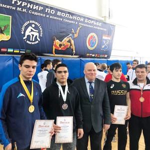 Победители и призеры традиционного турнира по вольной борьбе в г.Кингисепп
