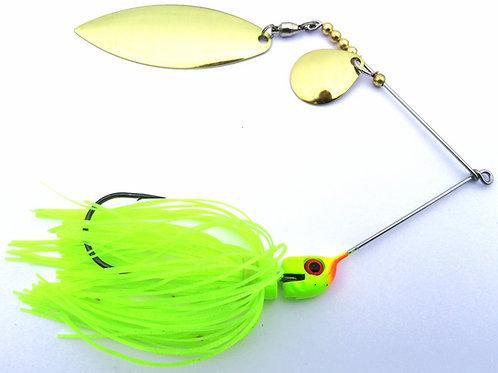Big Bass Spinnerbait - Chartreuse Skirt Br/Br