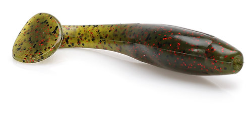 "4"" Fat Shad - Watermelon Red Flake"