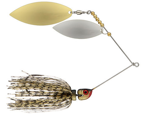 Big Bass Spinnerbait Dbl Willow - Gold Br/Ni