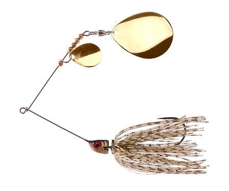 Big Bass Spinnerbait Dbl Colorado - Golden Shiner