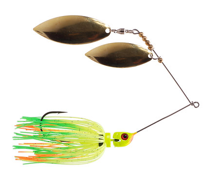 Big Bass Spinnerbait Dbl Willow - Fire Tiger Br/Br