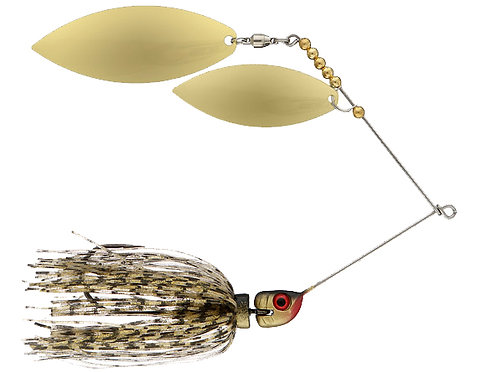 Big Bass Spinnerbait Dbl Willow - Gold Br/Br