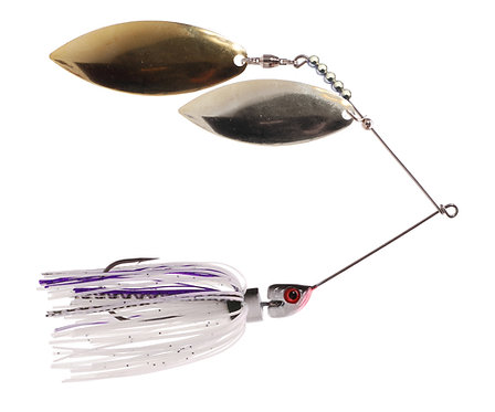 Big Bass Spinnerbait Dbl Willow - Lavender Br/Ni