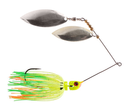 Big Bass Spinnerbait Dbl Willow - Fire Tiger Ni/Ni