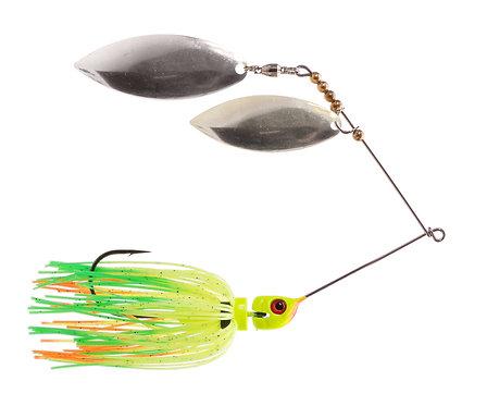 Big Bass Spinnerbait Dbl Willow - Fire Tiger Ni/Ni
