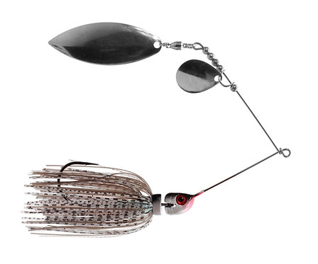 Big Bass Spinnerbait - Ghost Minnow Ni/Ni