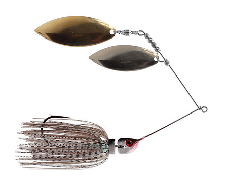 Big Bass Spinnerbait Dbl Willow - Ghost  Br/Ni
