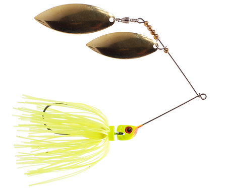 Big Bass Spinnerbait Dbl Willow - Chartreuse Br/Br