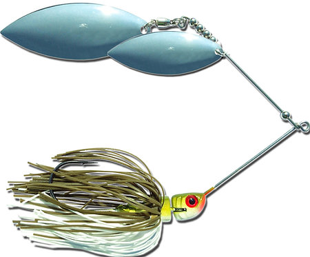 Big Bass Spinnerbait Dbl Willow - Baby Bass Ni/Ni