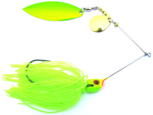 Big Bass Spinnerbait - Chartreuse Skirt Ch/Br
