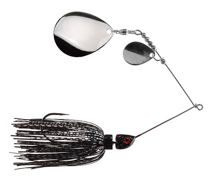 Big Bass Spinnerbait Dbl Colorado - Black & Silver