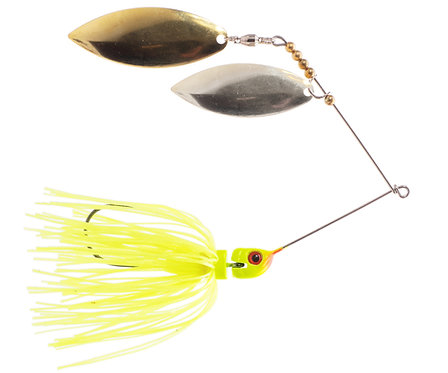 Big Bass Spinnerbait Dbl Willow - Chartreuse Br/Ni