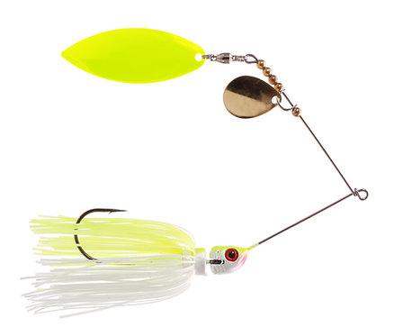 Big Bass Spinnerbait - Chart White Ch/Br