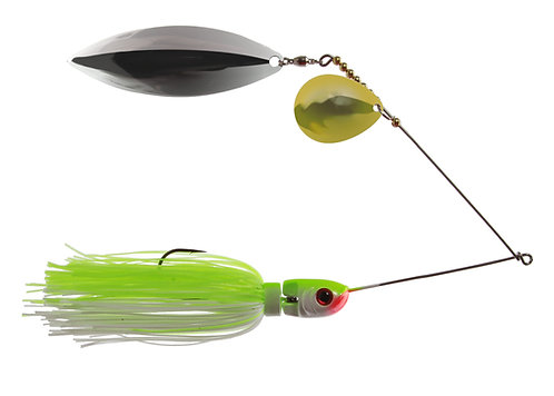 Apex Spinnerbait - Chart/White