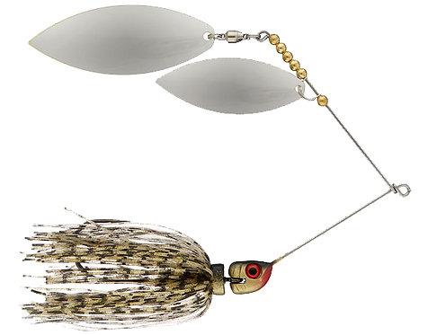 Big Bass Spinnerbait Dbl Willow - Gold Ni/Ni