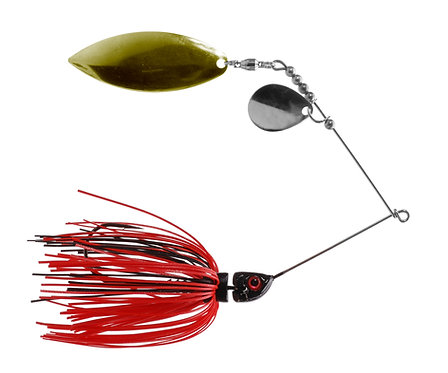 Big Bass Spinnerbait - Red Shad Br/Ni