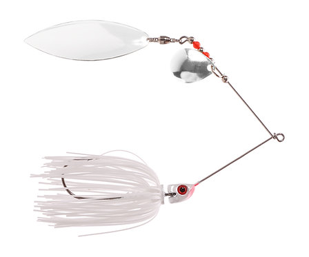 Big Bass Spinnerbait - White Wh/Ni