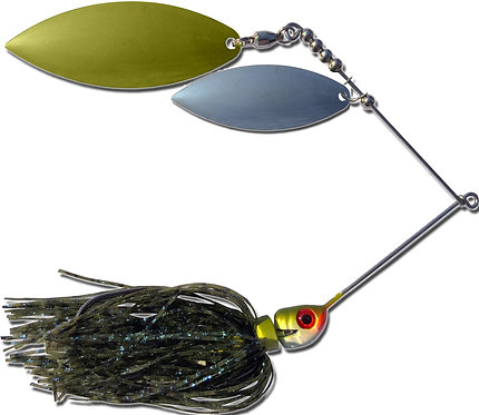Big Bass Spinnerbait Dbl Willow - Bluegill Br/Ni