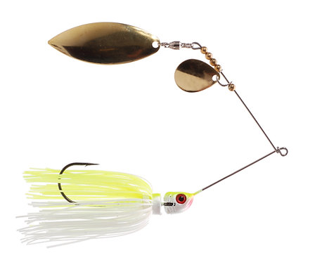 Big Bass Spinnerbait - Chart White Br/Br