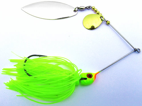 Big Bass Spinnerbait - Chartreuse Skirt Ni/Br
