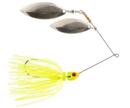 Big Bass Spinnerbait Dbl Willow - Chartreuse Ni/Ni